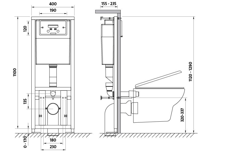 Stelaz Podtynkowy Link Do Wc K97 108 Stelaze Cersanit