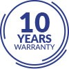 10-YEARS GUARANTEE ON ALL TAP ELEMENTS