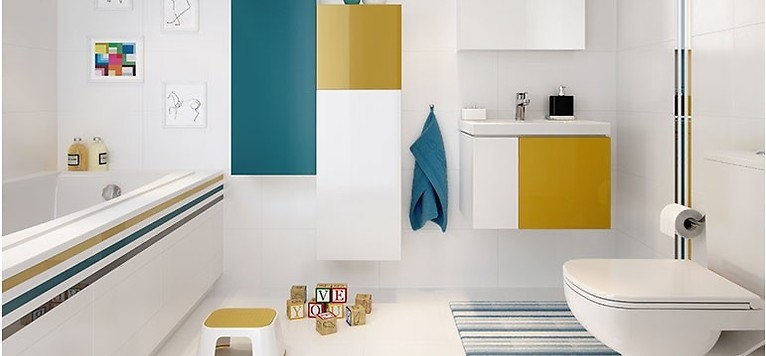 Siła Koloru łazienka Z Pomysłem Inspiracje I Porady