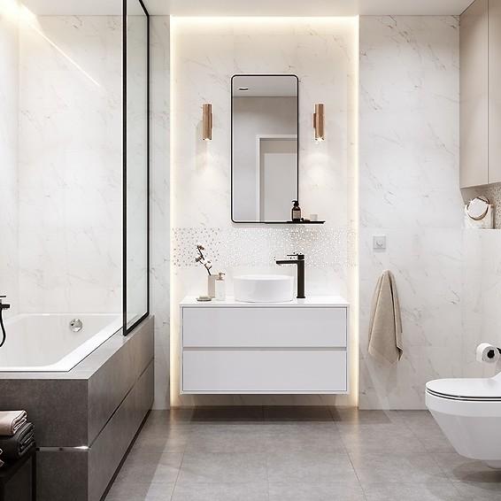 Marmur W łazience Luksusowe Wnętrze Na Wyciągnięcie Ręki