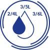 OSZCZĘDNE SPŁUKIWANIE - MOŻLIWOŚĆ REGULACJI 2/4L LUB 3/5L LUB 3/6L