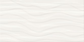PS803 white satin wave structure 29,8 x 59,8