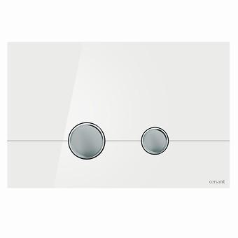 Przycisk STERO szkło białe