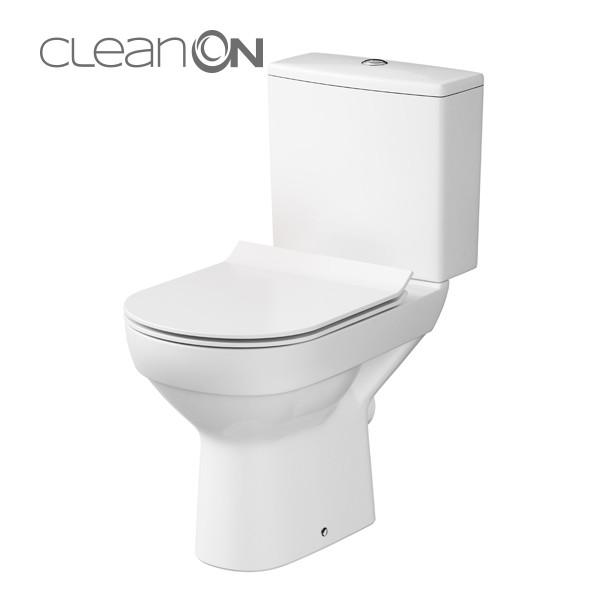 560a927a00845e WC kompakt 602 CITY NEW CleanOn 011 z deską duroplastową, antybakteryjną,  wolnoopadającą z funkcją łatwego wypinania (K35-036) / Kompakty  bezkołnierzowe ...