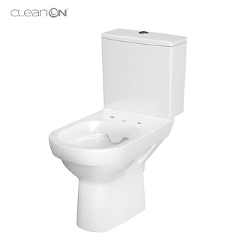 WC kompakt 603 CITY NEW CleanOn 010 z deską slim, duroplastową, ...